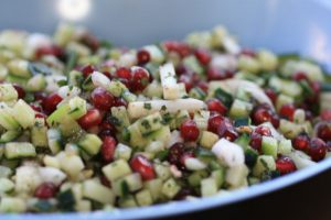 Pomegranate and cucumber Salad