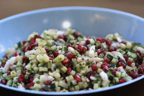 Pomegranate and cucumber Salad